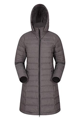 Mountain Warehouse Furnace Daunenjacke für Damen - Leichte Lange Winterjacke, Wasserfeste Regenjacke, Herrenjacke - Ideal für Camping Dunkelgrau 32