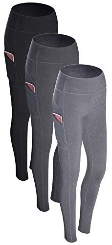 RUNNING GIRL Women Sexy Butt Lifting Yoga Pants with Pockets Push Up Leggings High Waist Workout Leggings for Running (2201L, 2PACK Black/Grey)