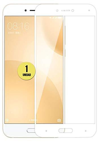 case & glass 1 Unidad DE Protector DE Pantalla Premium 3D Cristal Vidrio Templado 9H para XIAOMI MI 5C / MI5C Blanco Cobertura Completa