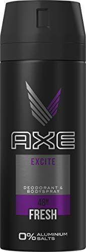 Axe bodyspray voor een langdurige geur Excite zonder aluminiumzouten, verpakking van 3 stuks (3 x 150 ml)