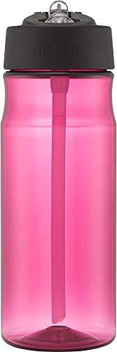 Thermos Borraccia Termica con Cannuccia, da 530 ml, di Colore Rosso Magenta, Plastica, Rosa, 530ml
