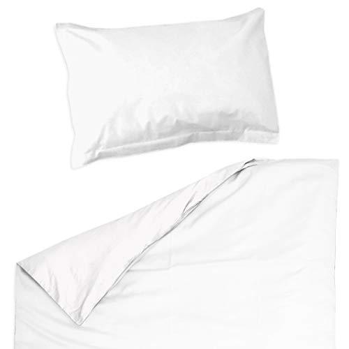 Blanc Pati'Chou - Juego de ropa de cama para bebé y niño (funda nórdica de 120 x 150 cm)