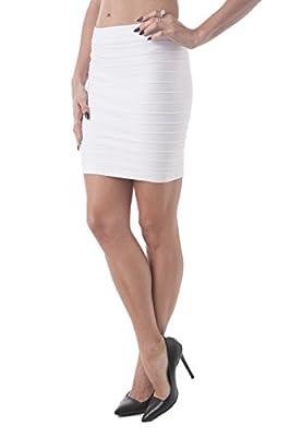 Hollywood Star Fashion Bandage Style Mini Skirt Knit Stretch Fabric One Size