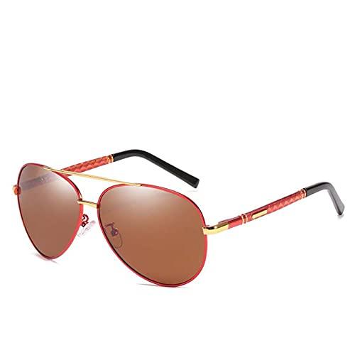 AMFG Gafas de sol polarizadas de hombres Gafas de sol de negocios Gafas de pesca Vidrios de conducción Piernas de primavera Regalos de viaje al aire libre (Color : A)