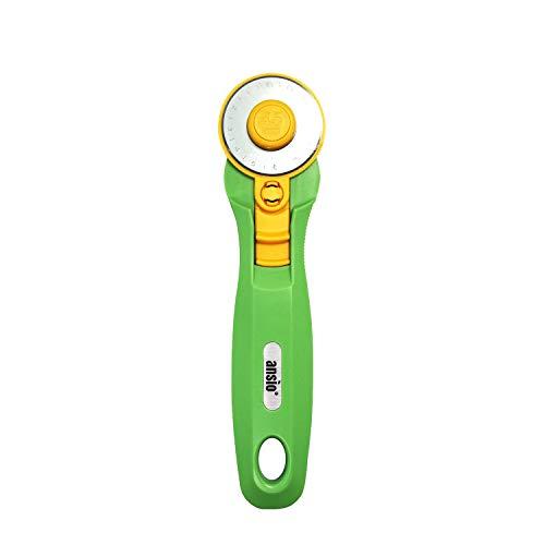 Rollschneider, 45 mm, scharfe Edelstahlklinge, ideal zum Absteppen, Gestalten, Schneidern - Limette Grün