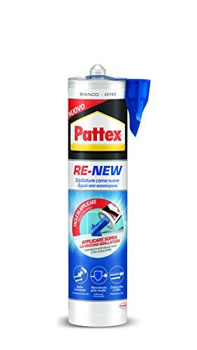 Pattex 2589876 Cartuccia silicone bianco per piastrelle e sanitari, rinnova sigillature, facile da usare,1 x 280ml, 280 ml