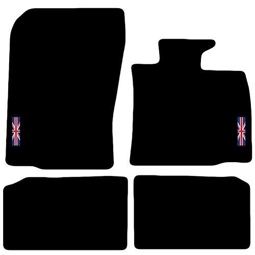 Carsio L23-CARP-CUT-3043-(2 x Velcro) Tapis de Voiture sur Mesure pour Mini Countryman 2010 à 2016 R60 avec Logo, Noir