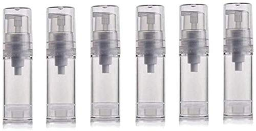Bianhua 6 pcs 5 ML Vide Clair Rechargeable Airless Pompe à Vide Lotion Crème Bouteille Portable Maquillage Voyage Cosmétique Bouteilles Produits-5 ML