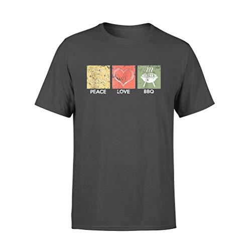 Leet Group Peace Love BBQ Barbacoa parrilla - Camiseta...