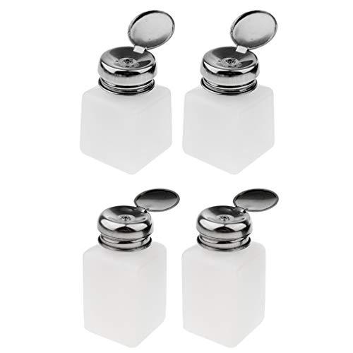 Sharplace 4 Pcs Vernis à Ongles Pompe Pompe Distributeur Presse Bouteille Récipient Vide