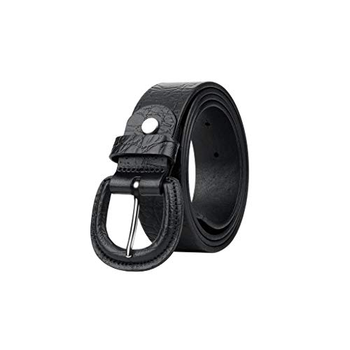 Nologo Cinturón cortical para hombre con hebilla de metal para cabeza de...