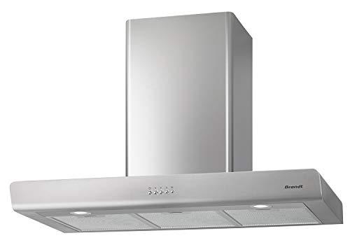 Brandt BHB6902X hotte 606 m³/h Monté au mur Acier inoxydable - Hottes (606 m³/h, Conduit/Recirculation, 70 dB, 373 m³/h, 59 dB, 62 dB)