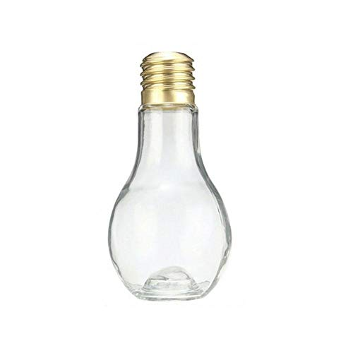 5 botellas creativas con forma de bombilla, diseño novedoso, para verano, agua, zumo, leche, té a prueba de fugas, taza de plástico perfecta para el hogar, oficina, tienda de té y más 400 ml