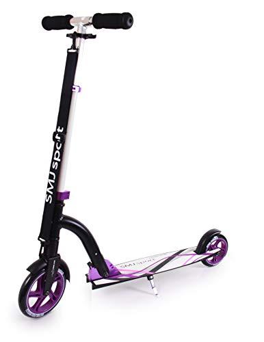 SMJ sport Unisex de Youth NL 300 – 180 Roller Scooter, Negro/púrpura, Talla única