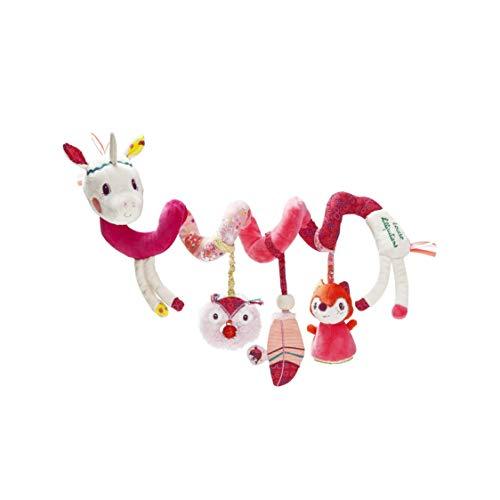 Lilliputiens 86868 Louise das Einhorn, Spielspirale für Maxi Cosi, Kinderwagen, ab 3 Monaten