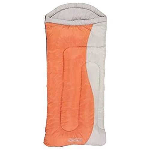Coleman Montauk Adult Sleeping Bag Rated 20 Degrees Big and Tall Dark Orange Beige