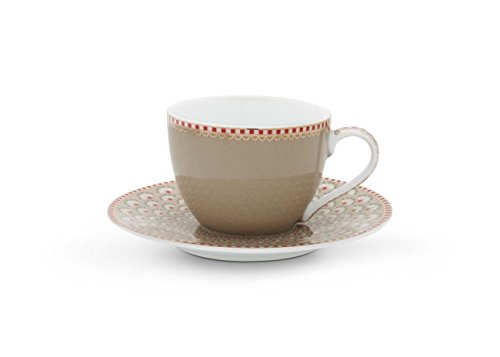 Pip Studio Bloomingtails Espresso Tasse & Untertasse 120ml khaki