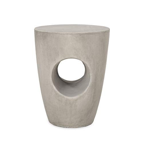 Christopher Knight Home Samuel Indoor Contemporary Lightweight Accent Side Table, Concrete Finish
