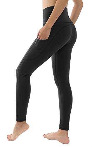 Dragon Fit High Waist Fleece Lined Yoga Leggings with 3 Pockets,Tummy Control Workout Running 4 Way Stretch Yoga Pants
