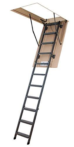 Scala retrattile pieghevole in metallo - altezza soffitto massima 2.80m