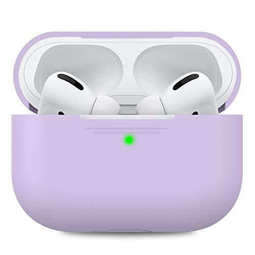 AHASTYLE Silikon Hülle für APS Pro Schutzhülle & Haut Hülle für APS Pro [Front-LED Sichtbar] [Kabelloses Laden] Kompatibel mit APS Pro 2019 (Ohne Karabiner, Lavendel)