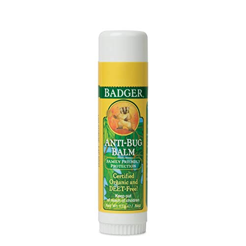 Badger - Anti-Bug Balm Stick DEET-Free Mosquito Repelling Balm Stick, Badger Balm Bug Repellent Stick, Certified Organic Insect Repellent, 0.6 oz
