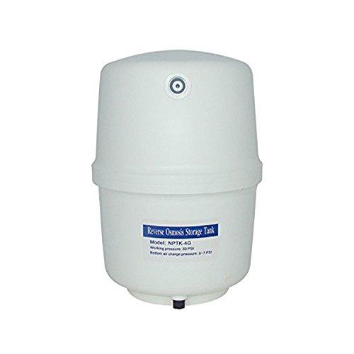 Vyair 4 galones (15 litros) de polipropileno osmosis inversa (RO) depósito de almacenamiento para agua purificada y filtrada (incluyendo grifo de válvula de presión de ajuste rápido)