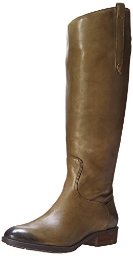 Sam Edelman Women's Penny 2 Wide Shaft Riding Boot, Olive, 7.5 M US