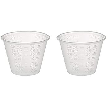 Dynarex 4258 Medicine Cup (Polyethylene), 100 Count, 1 Sleeve, Clear (2 Pack)