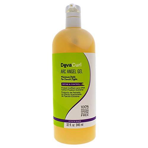 DevaCurl Gel hydratant de définition des boucles Arc AnGéll - Tenue ferme, anti-frISO ttis - 946 ml