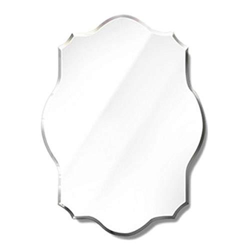 YiYi Bathroom mirror Espejo de Pared Festoneado Ovalado | Espejo Ovalado sin Marco | Espejo de Borde Biselado | Espejo Vintage Ovalado para Tocador de Baño (45x60cm / 50x70cm / 60x80cm)