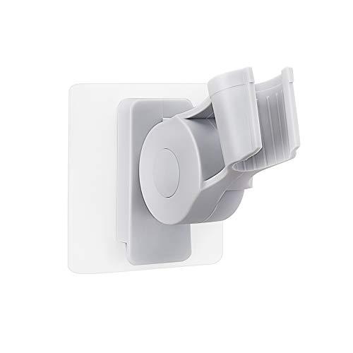 AooYo シャワーラック シャワーヘッド掛けスタンド 強力粘着 シャワーホルダー バスルームシャワーフック 7段の角度調節可能 浴室用ラック バス収納 穴あけ不要 灰色