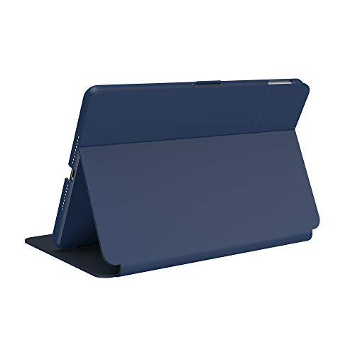 Speck Products BalanceFolio Funda y Soporte para iPad de 10,2 Pulgadas (2019/2020), Azul Costera, Gris carbón