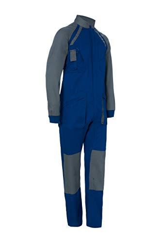 Buzo de Trabajo Bicolor Manga Larga. con Cremallera. Soldador Jardinero Mecánico. Color Azul Gris Talla 44-46. Ref: 1128