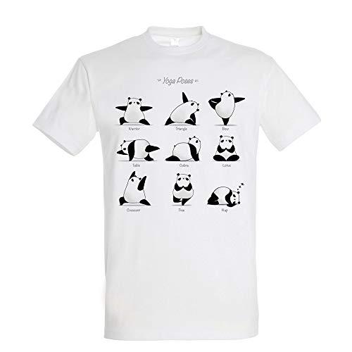 T-Shirt Yoga Panda - Maglietta Yogi - 100% Cotone - Stampato di Alta qualità.