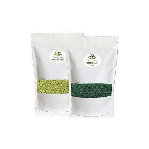 Duo Sportif – Spirulina e Moringa – 250 g – Integratore alimentare – Ricco di Proteina