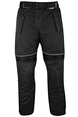 German Wear GW350T - Pantalones de Moto, Negro, 52 EU/L: Tamaño de la cintura - 100 cm