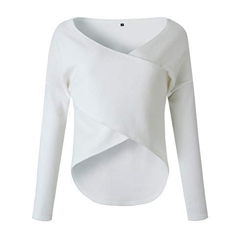 Kabxryaclo Suéter para mujer, talla grande, franela peluda, manga larga de murciélago, suelto, para mujer