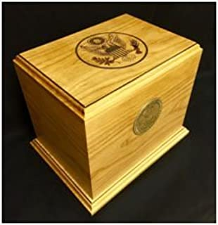SSI Woodwork Cherry Military Patriot Urn - Army WMCP/Army