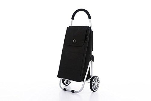 Moderner Luxus Einkaufswagen Einkaufsroller Einkaufstrolley Einkaufstasche Shopper (Schwarz)