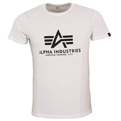 ALPHA INDUSTRIES Herren T-Shirt Basic T White - L