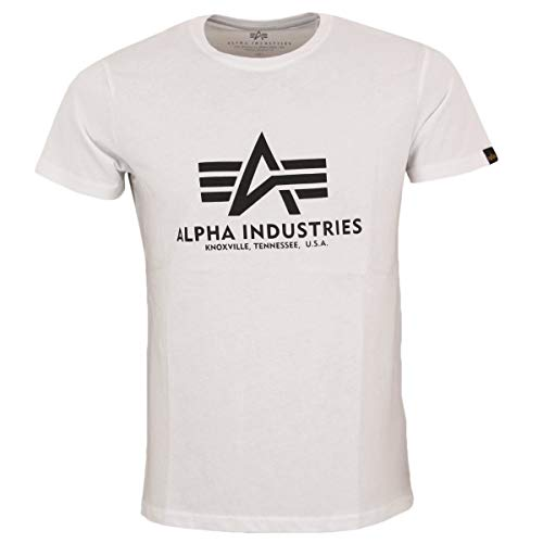 ALPHA INDUSTRIES Herren T-Shirt Basic T White - M
