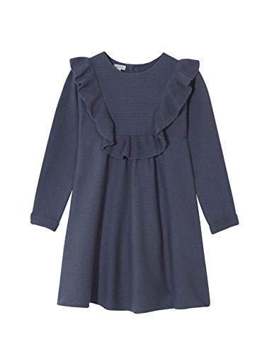 Gocco Vestido Punto Detalle Volante, Vestito Bambina, Blu (Azul Suave 1z), 140 (Taglia Produttore: 9-10)