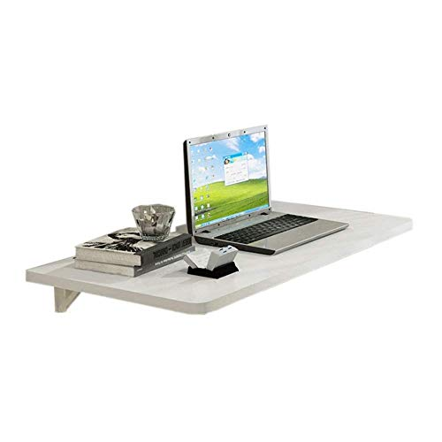 Klaptafel, bank, tafel, bed, bureau, laptop, wandtafel, opvouwbaar, houder voor laptop, bureau, slaapkamer, woonkamer, keuken, rek, ruimtebesparend, kleur: wit, afmetingen: 100 x 50 x 2,5 cm