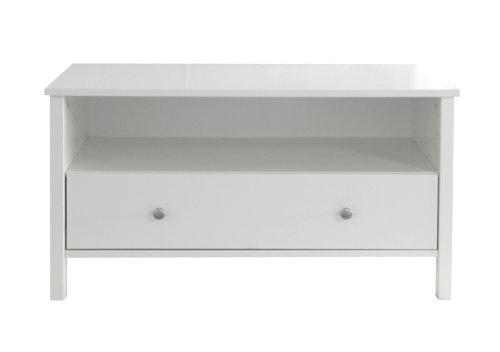 Steens Group Table TV Katarina, 100 x 49 x 54 cm, MDF Blanc