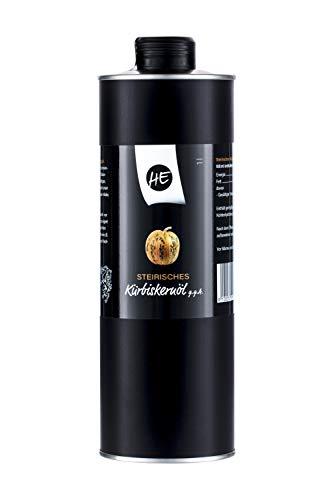 Steirisches Gourmet Kürbiskernöl | Kernöl g.g.A. in der Dose | kein Glas | Premium Qualität | hochdosiert | mildes Nussaroma | 100% vegan und kaltgepresst (1 l)