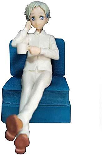 Mdcgok Dolls The Promised Neverland: Postura de sofá sentada normanda - Figura de PVC de 6 3 Pulgadas CJW1024