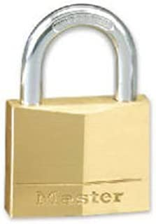 Master Lock 130D Solid Brass Padlock, 1-3/16-inch