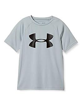 Under Armour Boys  Tech Big Logo Short Sleeve Gym T-Shirt  Mod Gray Light Heather  012 /Black  Youth Medium