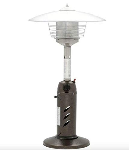 Hampton Bay Tabletop Propane Gas Patio Heater 11,000 BTU Stainless Steel